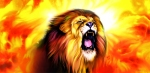 Leo roaring