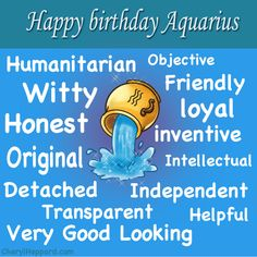 Happy Birthday Aquarius 2