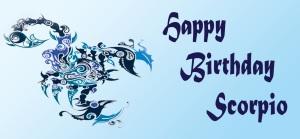 Happy Birthday Scorpio 2