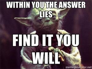 Yoda Answers Within
