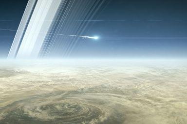 Cassini Crashes into Saturn