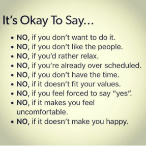 It's okay to say NO 2